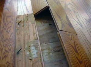 bucked floor