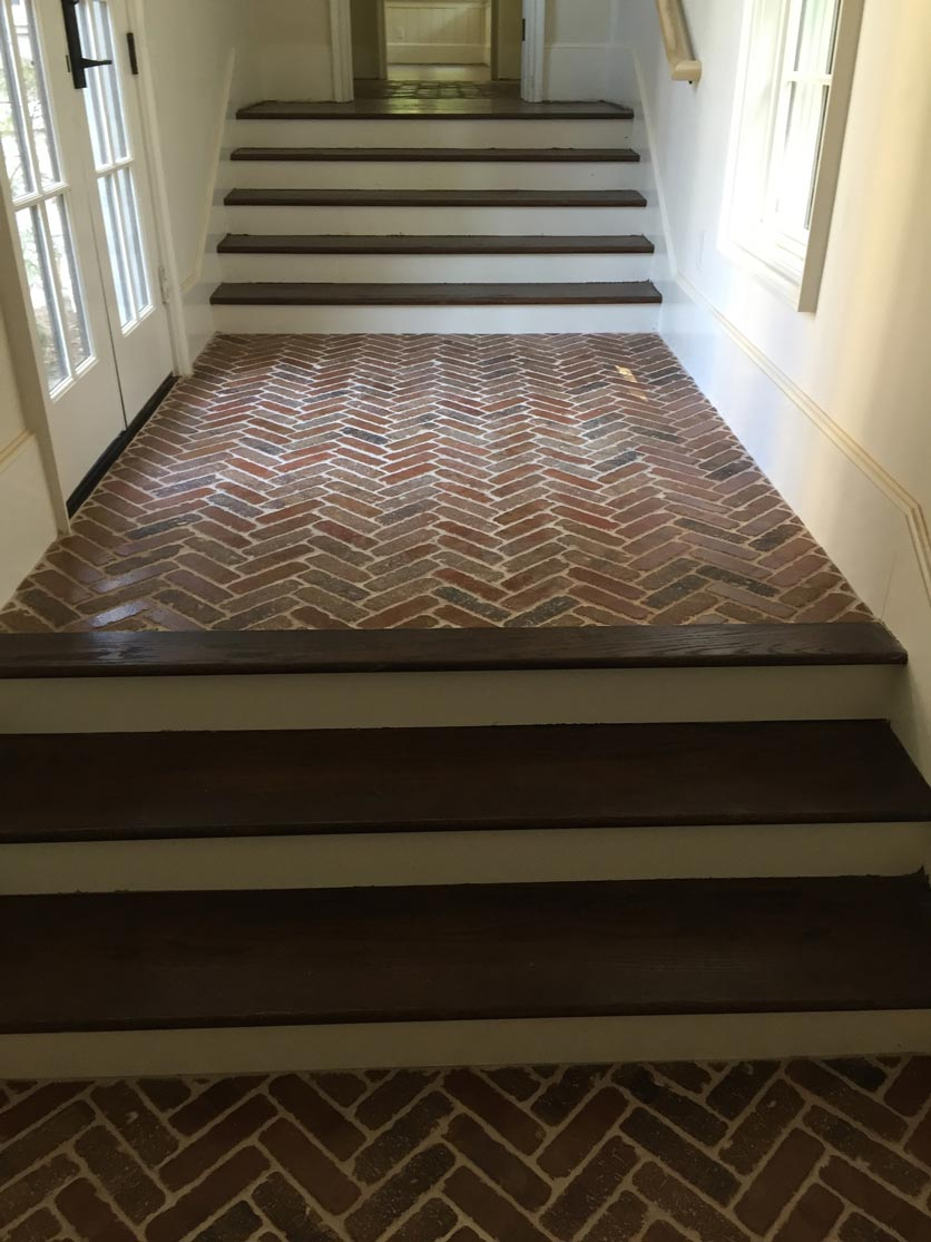 Tile and Steps leading to the newly finished basement