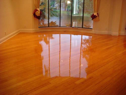 hardwood floor shining