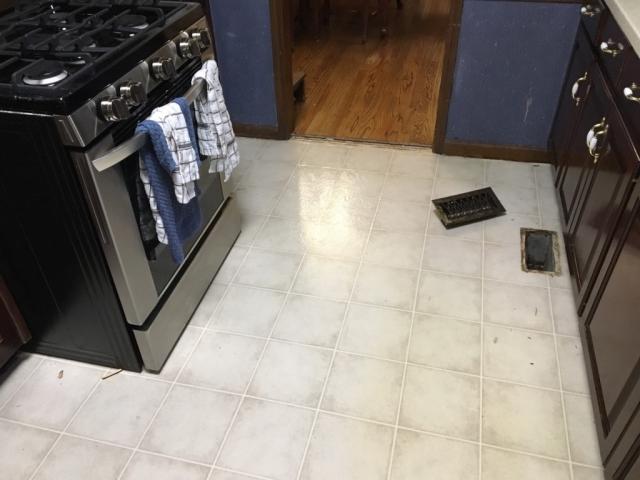 Original kitchen vinyl floor