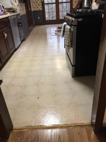 Original kitchen vinyl flooring