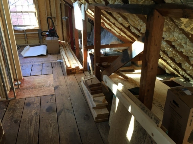 New attic addition construction