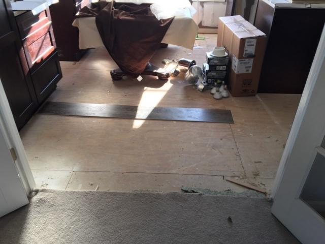Old Carpet removed