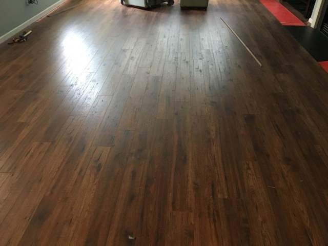 New laminate flooring