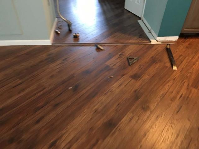 New laminate flooring