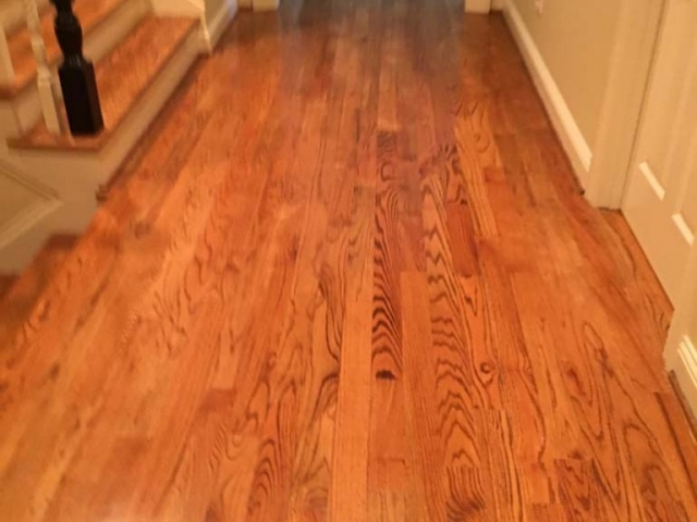 Damaged hardwood to be repaired