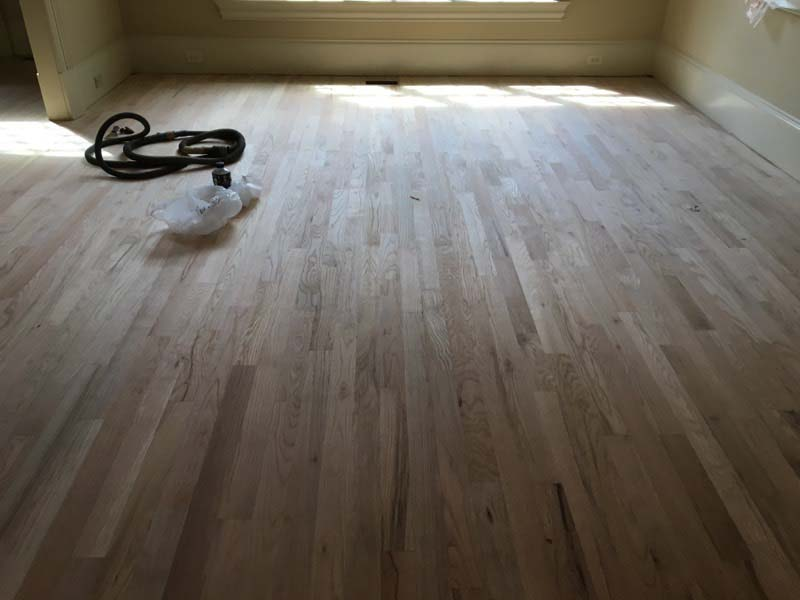 Floors are ready to restained